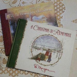 Set of 2 Hardcover Christmas Books Kinkade/Morgan